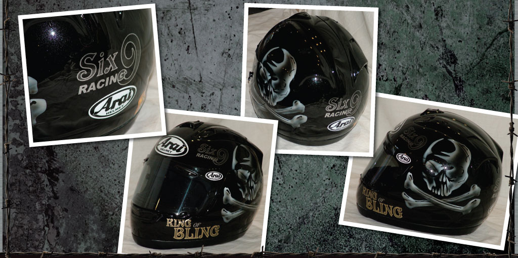 arai king of bling helmet