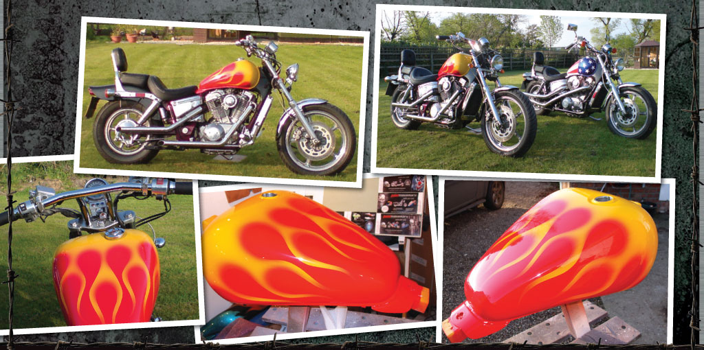 Easyrider yellow on red flames