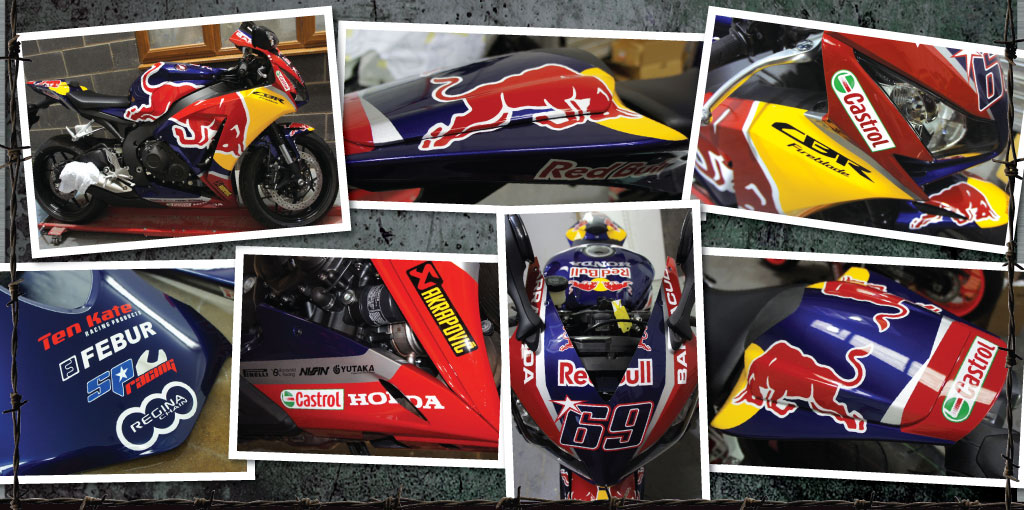 Honda fireblade painted race rep