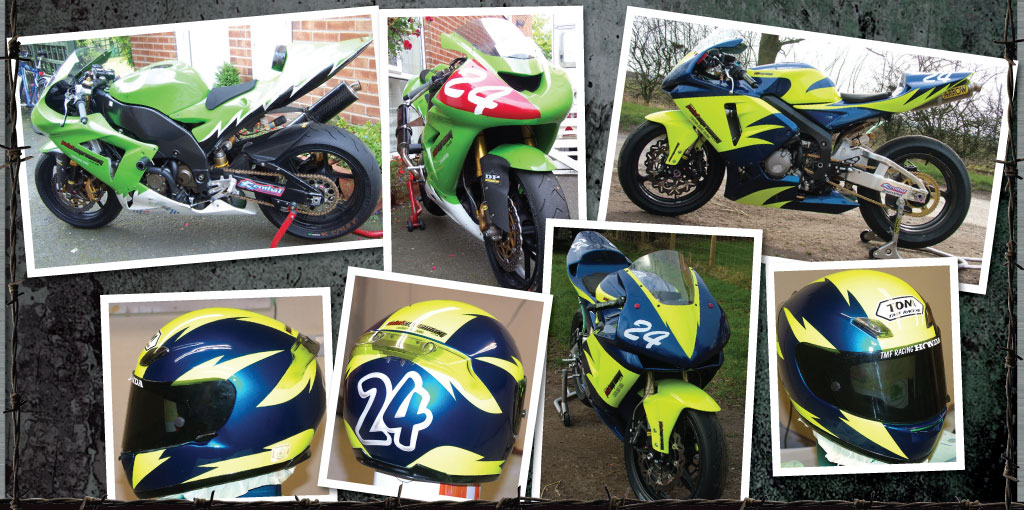 TMF racing bike paintwork